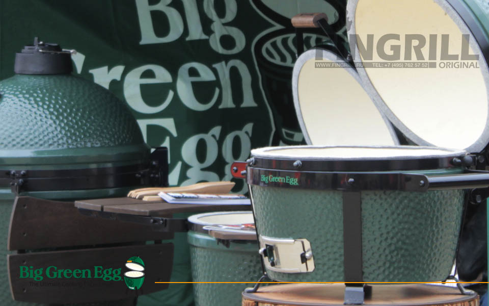 Big Green Egg грили барбекю для загородного дома.