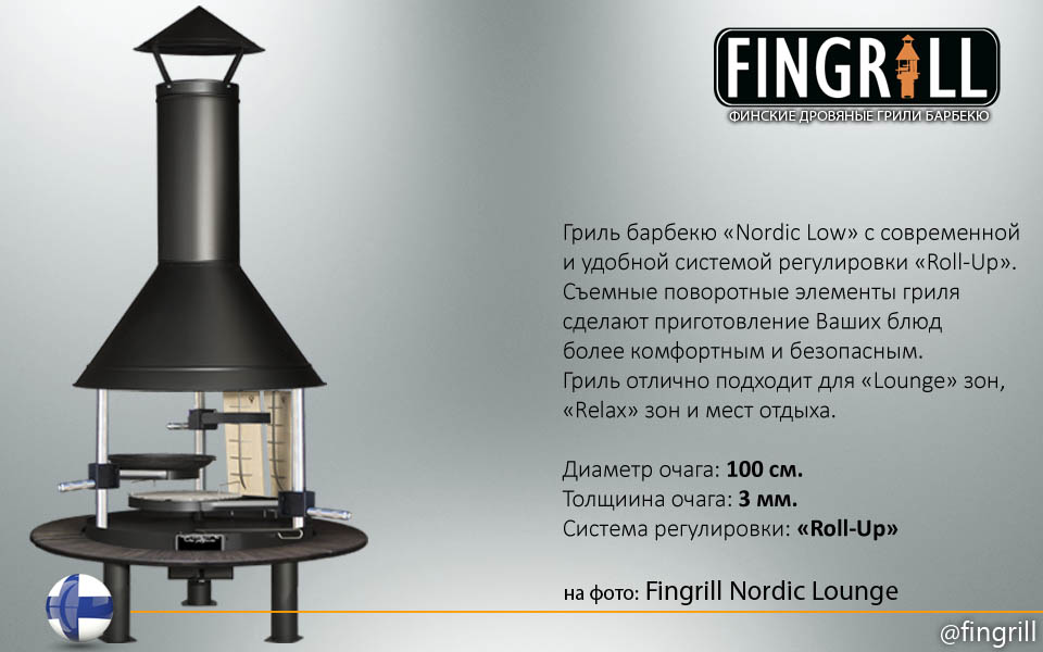 Гриль барбекю Fingrill Nordic Lounge